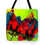 Painted Poppies Tote Bag