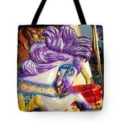 Painted Purple Pony Tote Bag