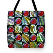 Painted Quilt Tote Bag