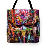 Painted Rear End Tote Bag