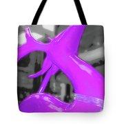 Painted Reindeer Purple Tote Bag
