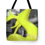 Painted Reindeer Yellow Tote Bag