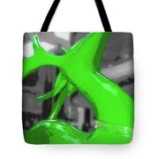 Painted Reindeer Green Tote Bag