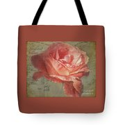 Painted Rose Tote Bag