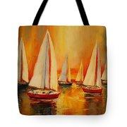 Painted Sails Tote Bag