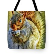 Painted Squirrel  Tote Bag