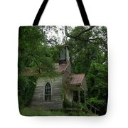 Painted St. Simons Church Tote Bag