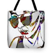 Painted Sunglasses Tote Bag