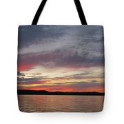 Painted Sunset On Gunflint Lake Tote Bag
