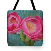 Painted Tulips Tote Bag