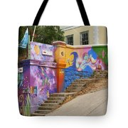 Painted Walls In Valparaiso Tote Bag