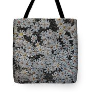 Painted White Daisies Tote Bag
