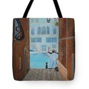 Painter In Venice Tote Bag