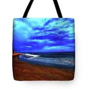Painterly Beach Scene Tote Bag