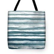 Painterly Beach Stripe 1- Art By Linda Woods Tote Bag