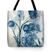 Painterly  Blues Tote Bag
