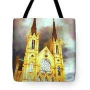 Painterly Church Tote Bag