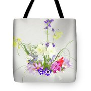 Painterly Homegrown Floral Bouquet Tote Bag