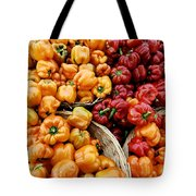 Painterly Peppers Tote Bag