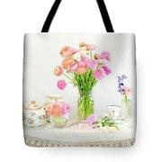 Painterly Ranunculus Tea Time Tote Bag