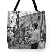 Painters In Montmartre, Paris, 1977 Tote Bag