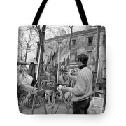 Painters In Montmartre, Paris, 1977 Tote Bag