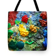 Painters Palette Tote Bag