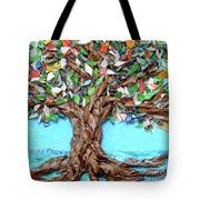 Painters Palette Of Tree Colors Tote Bag