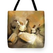 Painting 717 1 Sufi Whirl 3 Tote Bag