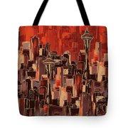 Painting 773 1 Seattle Skyline Tote Bag