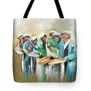Painting 800 1 Hunzai Musicians Tote Bag