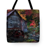 Painting Babcock State Park Glades Creek Grist Mill West Virginia Tote Bag