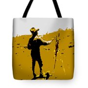 Painting Cowboy Tote Bag