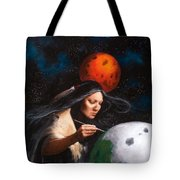 Painting Moons Tote Bag
