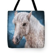 Painting Of A Brindle Horse With White Coat Tote Bag