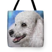 Painting Of A White Fluffy Poodle Smiling Tote Bag