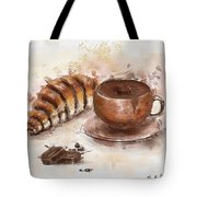 Painting Of Chocolate Delights, Pastry And Hot Cocoa Tote Bag