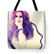 Painting Of Girl With Brown Hair Tote Bag