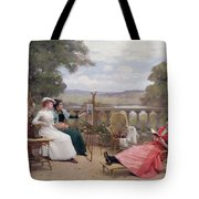 Painting On The Terrace Tote Bag
