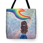 Painting Rainbow Tote Bag
