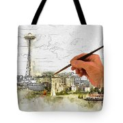 Painting Seattle Tote Bag