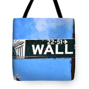 Painting Wall Street Tote Bag