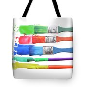 Paints And Brushes  Tote Bag