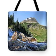 Paiota Falls - Glacier National Park Tote Bag