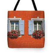 Pair Of Blue Shutters Tote Bag