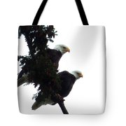Pair Of Eagles In A Tree Tote Bag