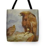 Pair Of Golden Eagles By Thorburn Tote Bag