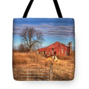 Pair Of Horses Grazing In A Field Tote Bag