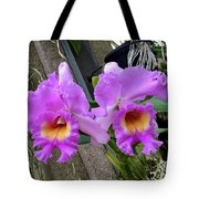 Pretty Purple Orchids Tote Bag