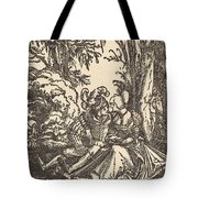 Pair Of Lovers In A Landscape Tote Bag